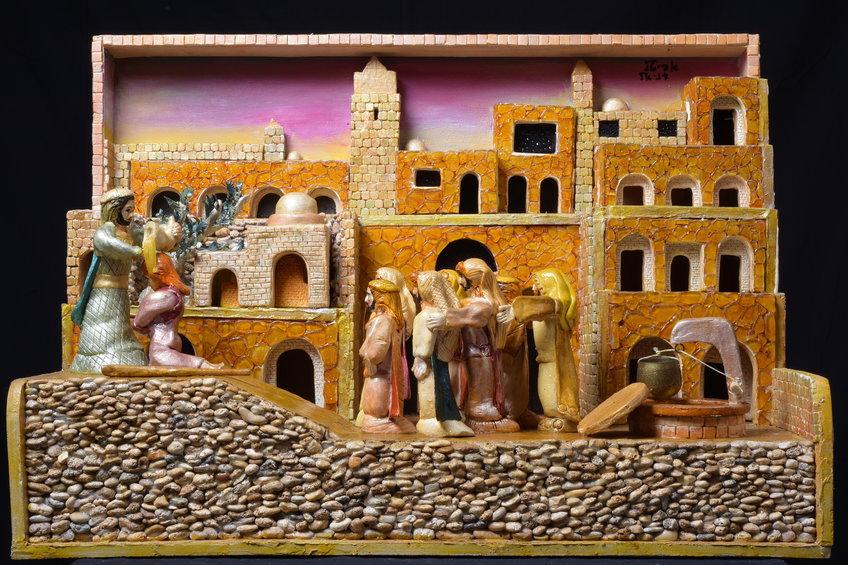שמואל מושך בשמן את דוד