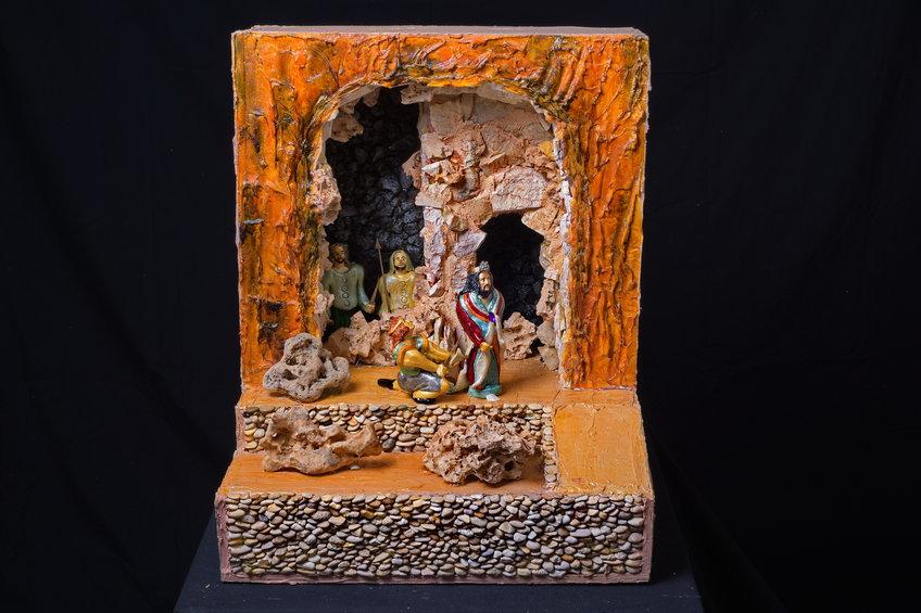 שאול ודוד במערה