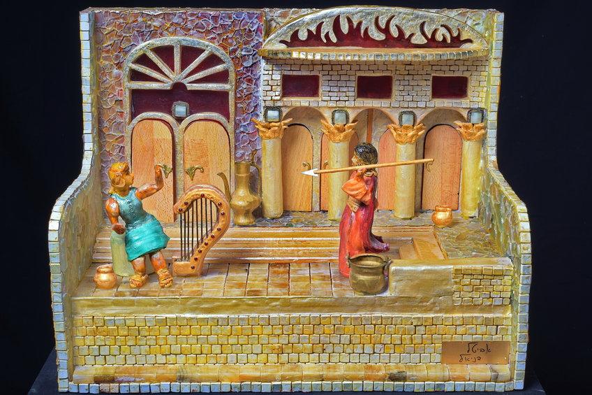שאול מטיל את חניתו על דוד